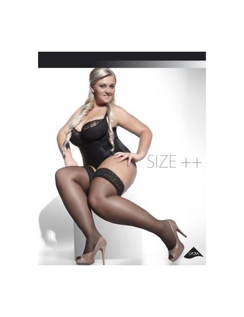 Very Big Stockings Black Hold Ups Plus Size For Bbw 5X 6X ...