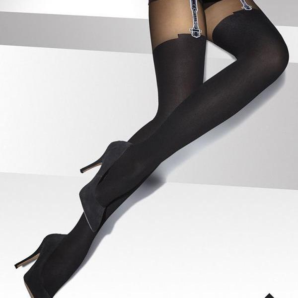 Ladies Patterned Tights-20-40 DEN Sexy Hosiery Black S - XXL SIZE 2 3 4 5XL 6XXL high quality !!!